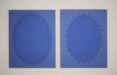 Jane Harris 'Blue Bleu' (diptych) 2013 1
