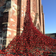 Weeping Window by Paul cummings at St Magnus; Cathedral , Orkney for the Voices Project.