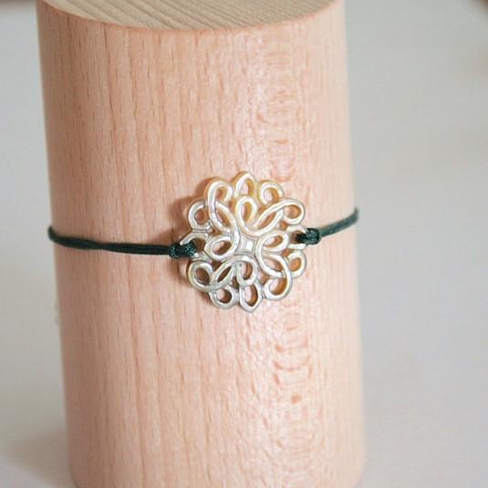 Bracelet vert mandala