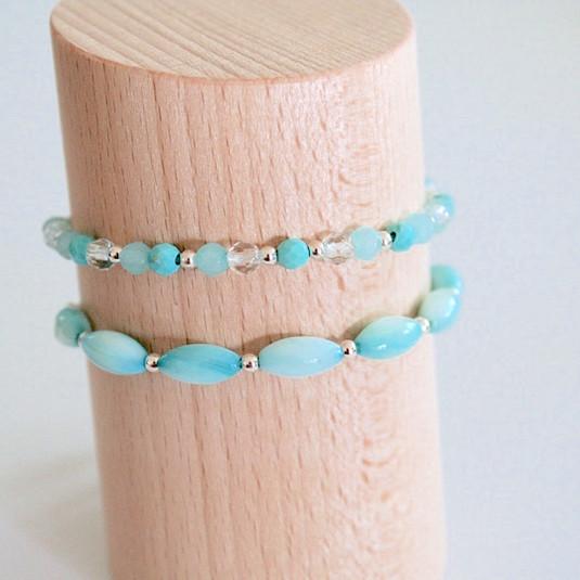Bracelets bleus ciel