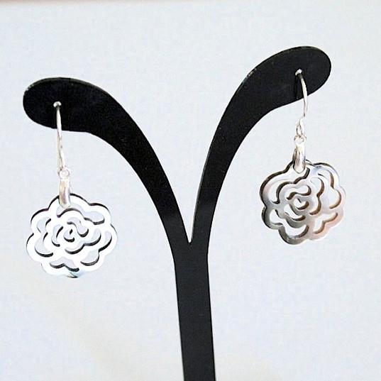 Boucles d'oreilles roses