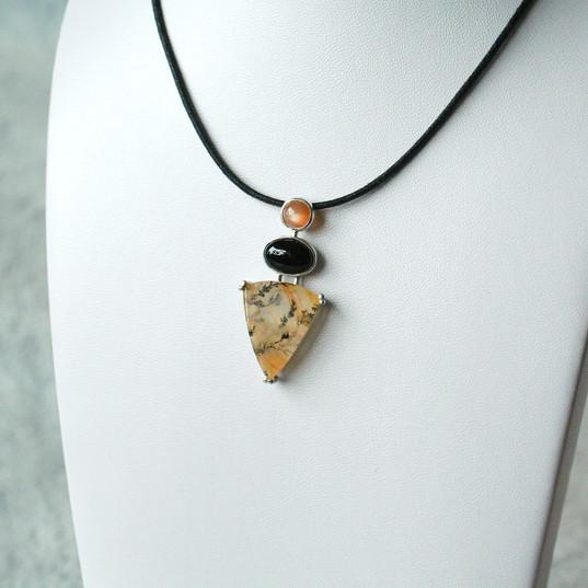 pendentif quartz arborisé