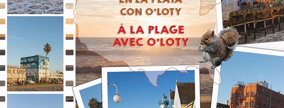 À la plage avec O'Loty En la playa con O'Loty