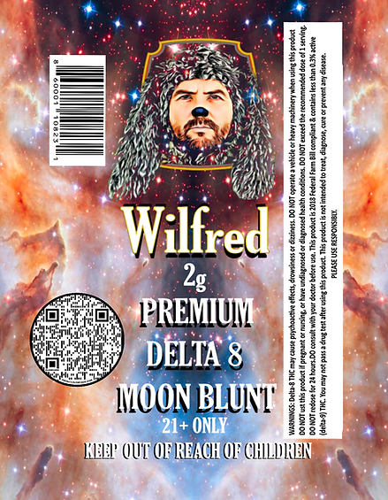 Master Delta 8 Moon blunts tube AND LABE