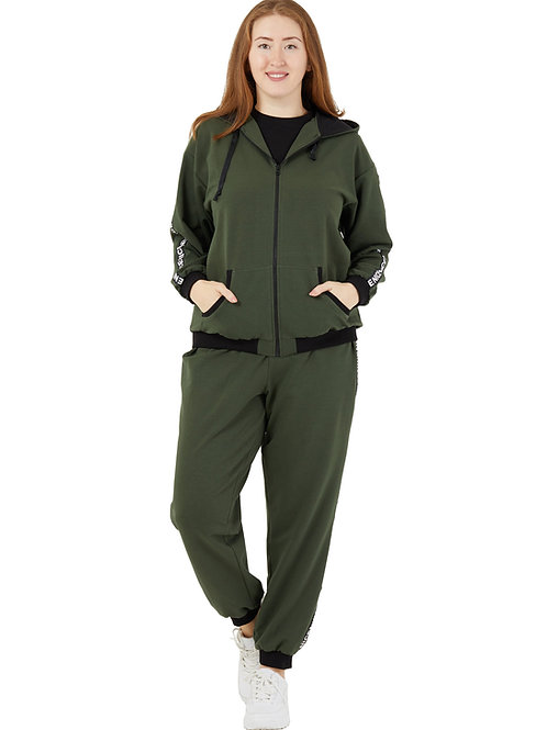 Толстовка (спортивная куртка). Цвет хаки. 991923