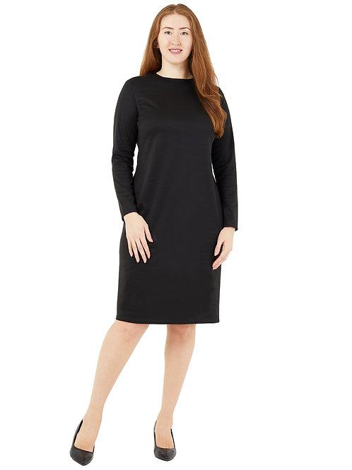Платье классического силуета (цвет черный) 771980