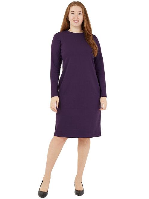 Платье классического силуета с лампасами (фиолетовый цвет) 771983