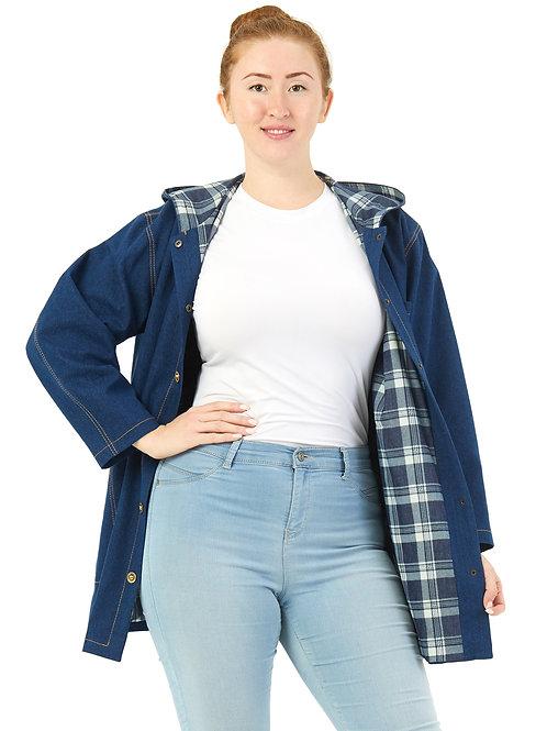 Куртка джинсовая на подкладке (синий) 101916
