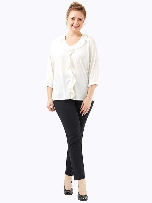 Блузка с воланом молочная.  221918