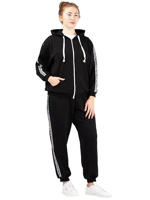 Толстовка (спортивная куртка). Цвет черный. 991920.