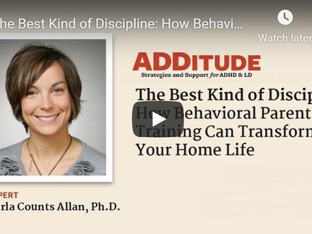 The Best Kind of Discipline: How behavioral parent training can transform your home life