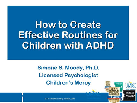 How to Create Effective Routines for Children with ADHD