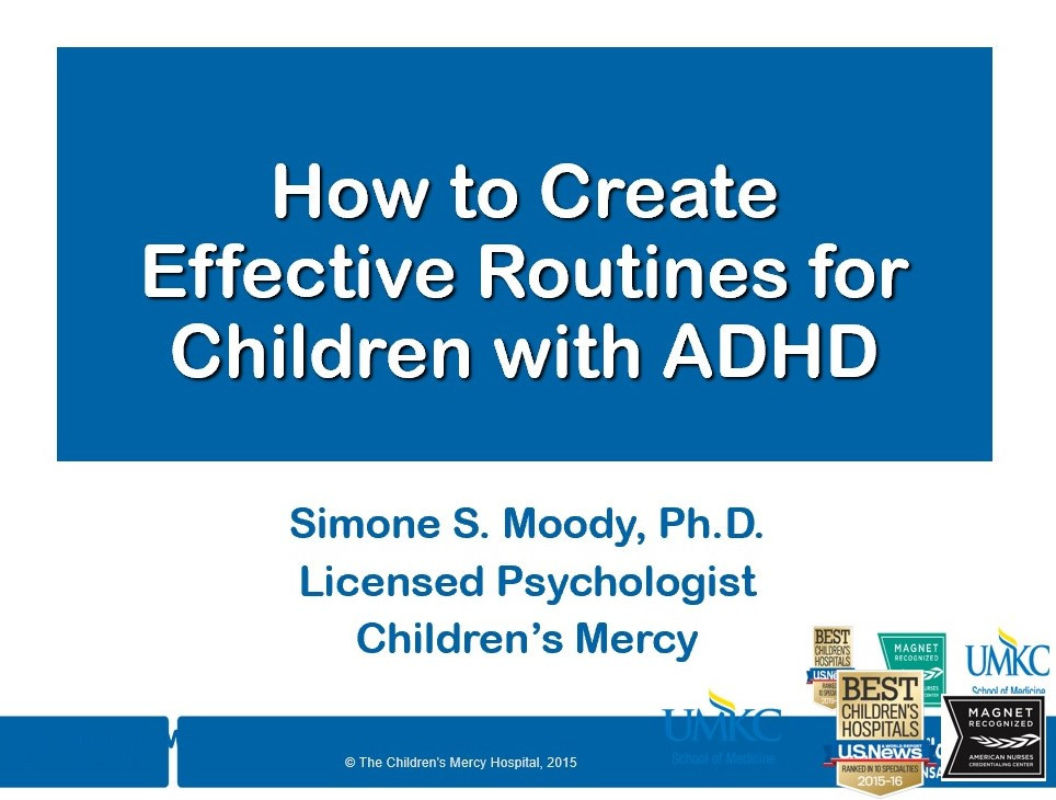 Dr. Simone Moody shares about routines.