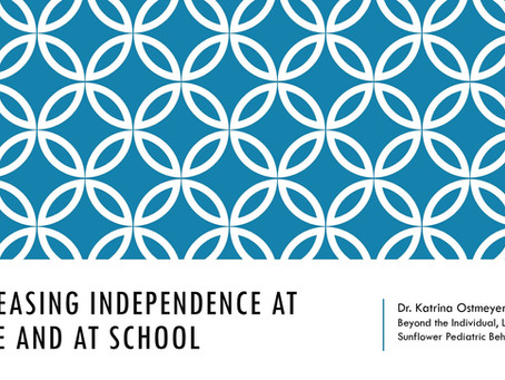 Teaching Independence at Home & School