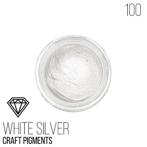 """CraftPigments """"White Silver"""",Белое Серебро, 25мл"""