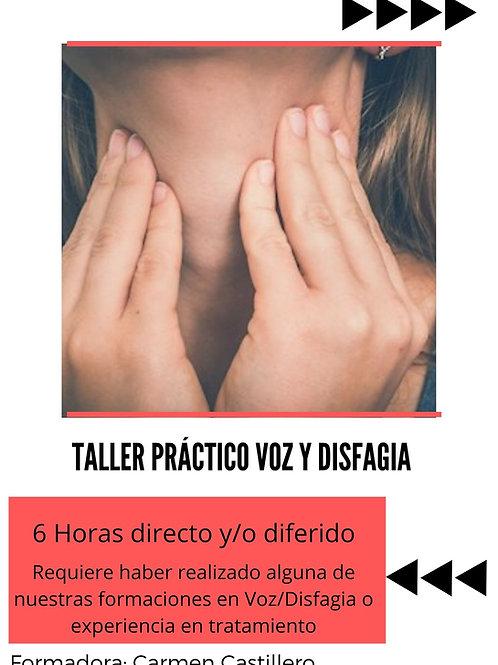TALLER PRÁCTICO INTERVENCIÓN VOZ Y DISFAGIA. 8 MAYO. 6h. Presencial/ Streaming