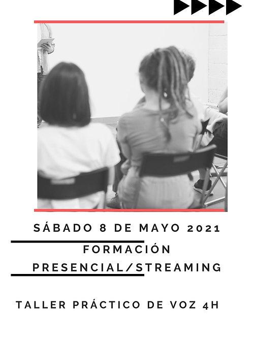 Taller Voz 4h. Presencial/ Streaming