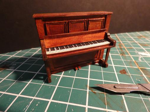 1:25 Scale Piano. Mountboard, bristol board acrylic paint and glaze.