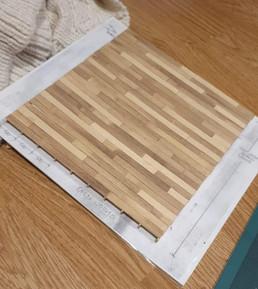 1:25 Scale Wooden Floor. Obeche.
