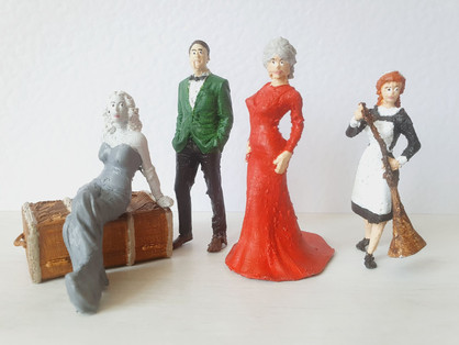 1:25 Scale Figures, 3D printed and then hand painted. Fusion 360  software