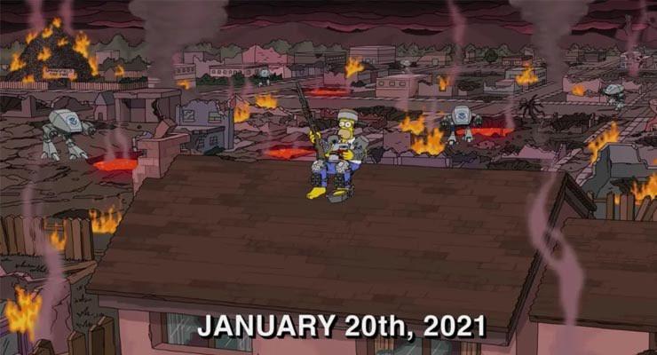 Episódio de 'Os Simpsons' sobre apocalipse repercute após invasão do Capitólio nos EUA