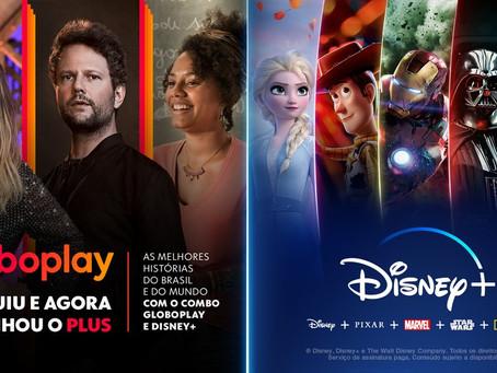 Globoplay e Disney+ fazem parceria, com desconto, para concorrer com a Netflix