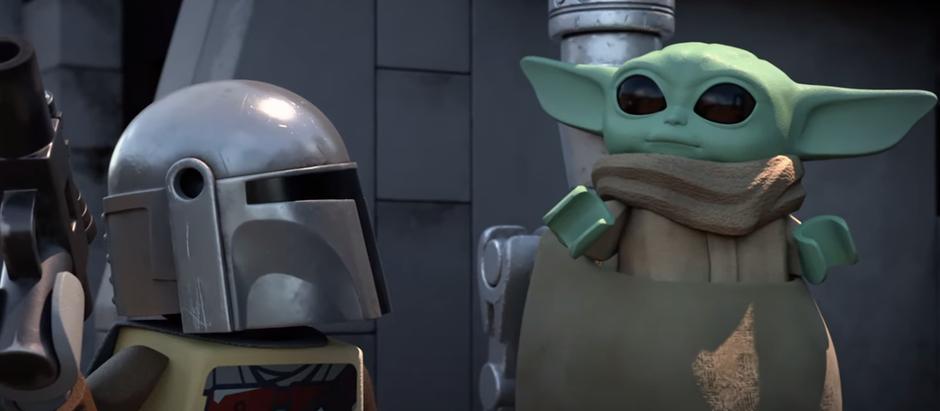 'LEGO Star Wars: Especial de Festas' | Disney+ mostra o encontro de Rey e do bebê Yoda