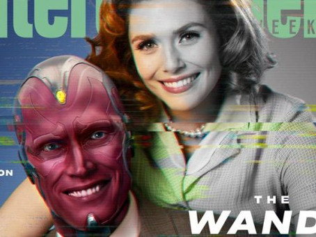Elizabeth Olsen e Paul Bettany estampam capa de revista para divulgar 'WandaVision'