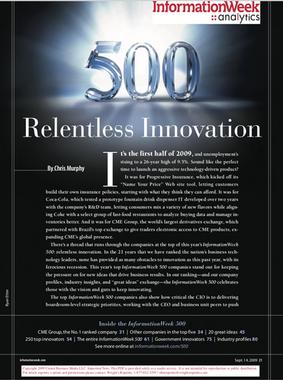 INFORMATIONWEEK 500 AWARD
