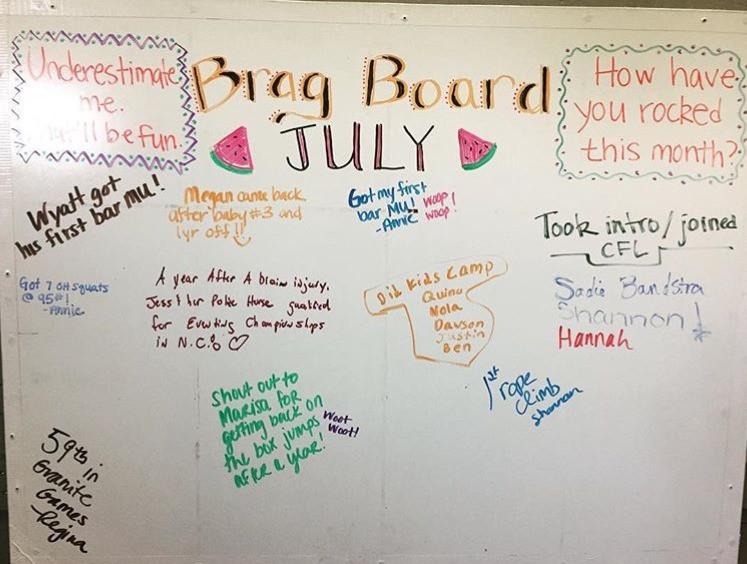 July Brag Board