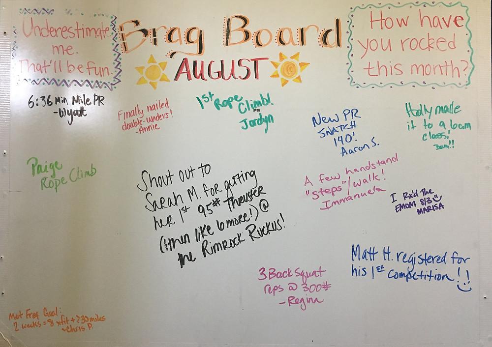 August Brag Board