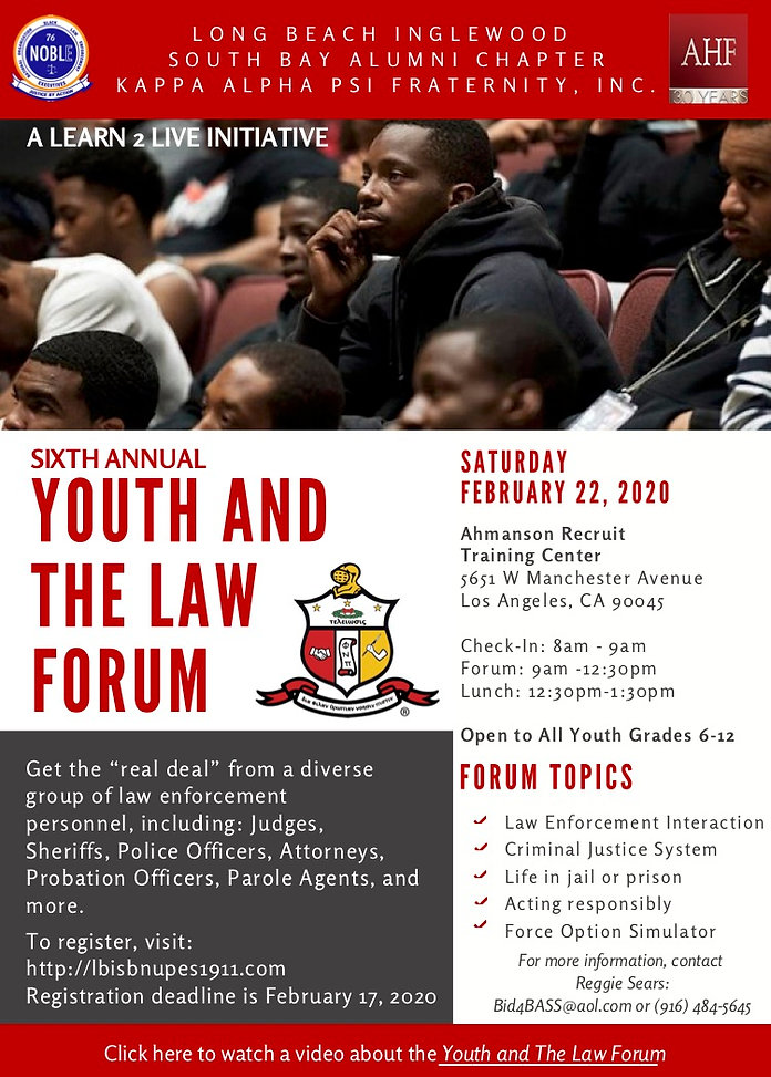 Youth and the Law 2020 Flyer   11-19-19.