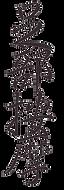 """calligraphie chinoise du texte """"massage des pieds"""""""