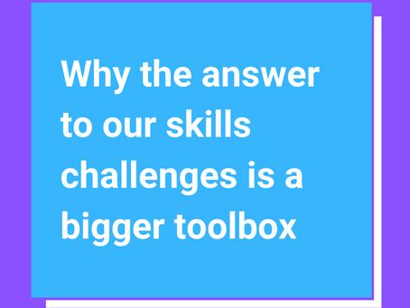 Why the answer to our skills challenge is a bigger toolbox