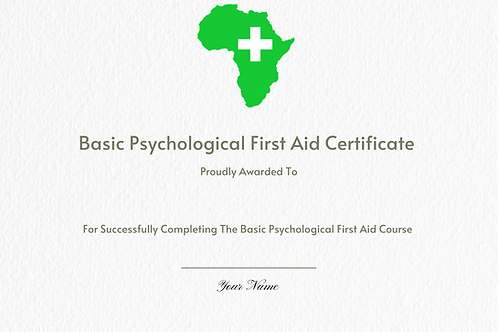Basic Psychological First Aid Certificate