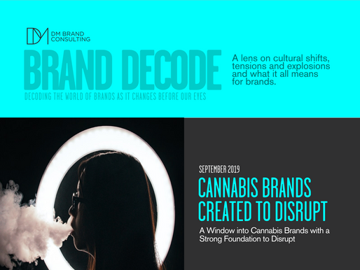 CANNABIS BRANDS CREATED TO DISRUPT