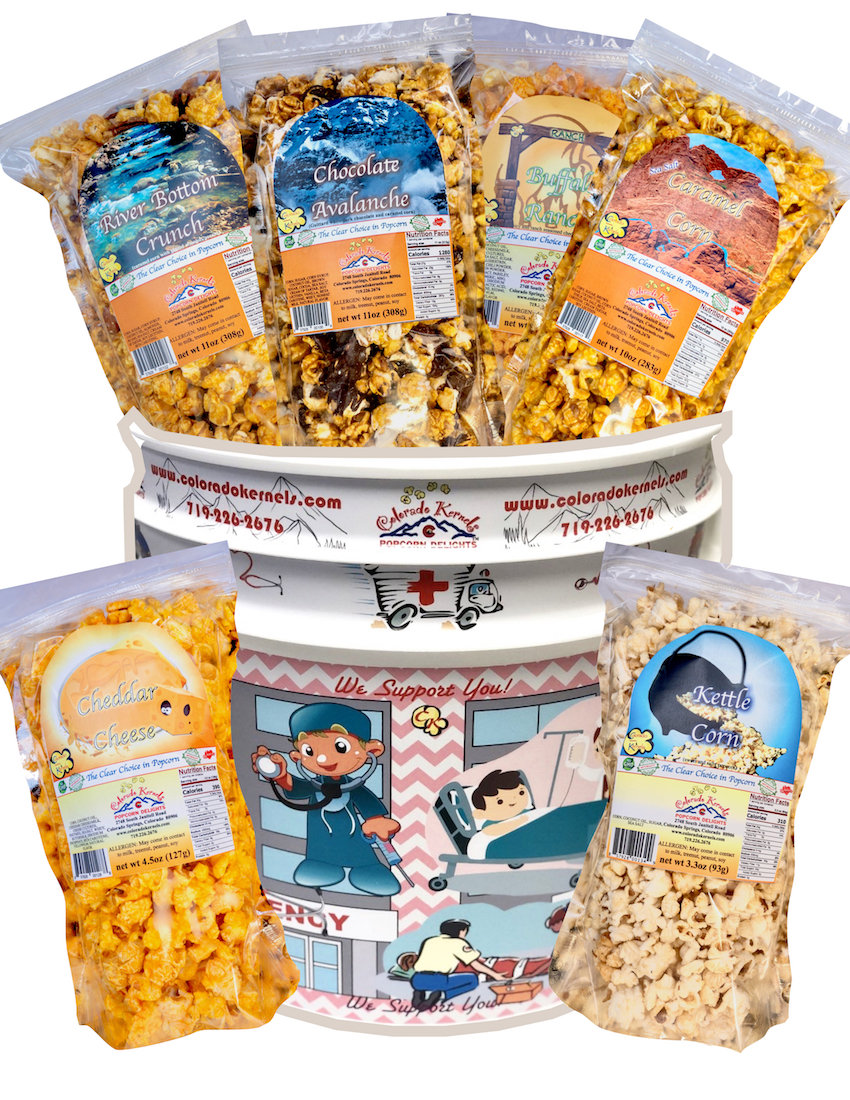 First Responders Birthday Delight Popcorn Bucket Colorado Kernels