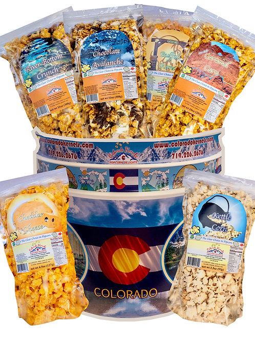 State-Themed Delight Popcorn Bucket