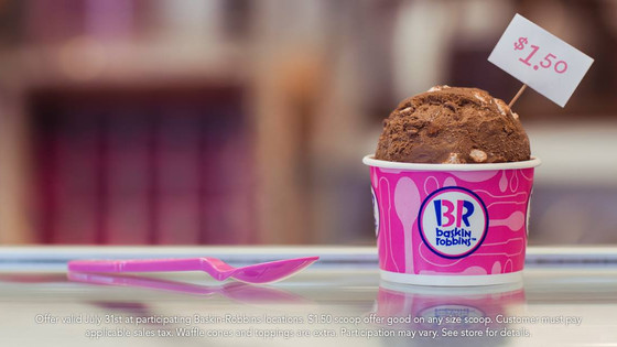 Baskin-Robbins Celebrating 31 By Doing $1.50 Ice Cream Scoops!