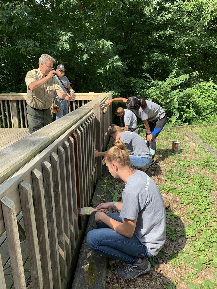 Volunteering at Backbone State Park
