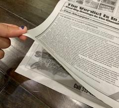 DIY Newspaper Trash Can/Trash Can Liner