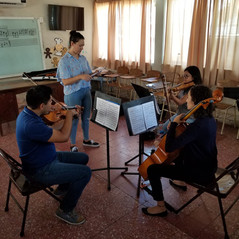 Beethoven trio working with Amelia