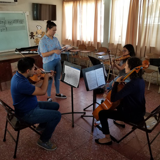 Beethoven trio working with Amelia