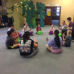Bucket drumming class with Hannah Neman