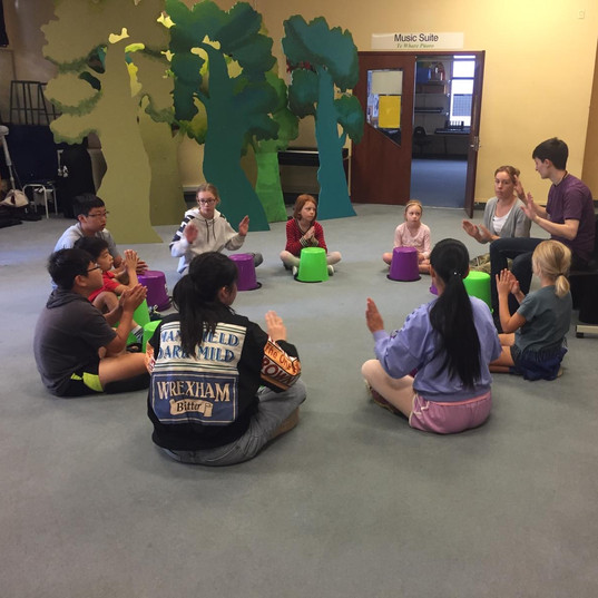 Bucket drumming class with Hannah Neman