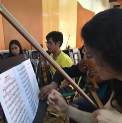 Rehearsal in Puebla
