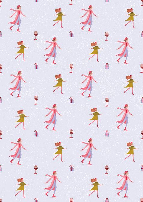 A3 Christmas Pattern Print lilac.jpg