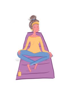 Yoga Lady.