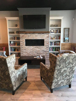 Risen & Grind Fireplace & Chairs