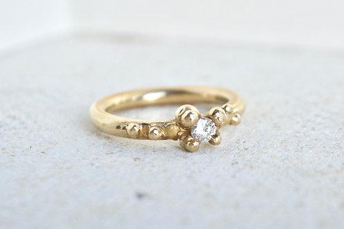 Solitaire Diamond beaded Ring